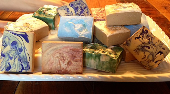 Make homestead milk soap