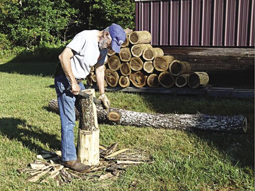 A few tips for cutting firewood