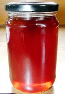 Look at that beautiful rosy glow! Crab Apple Jelly