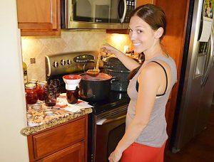 Making jam