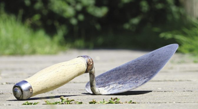 Keeping garden tools sharp
